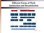 different forms of work satisfaction and dissatisfaction