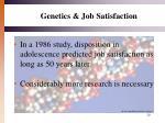 genetics job satisfaction