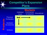 competitor s expansion plans