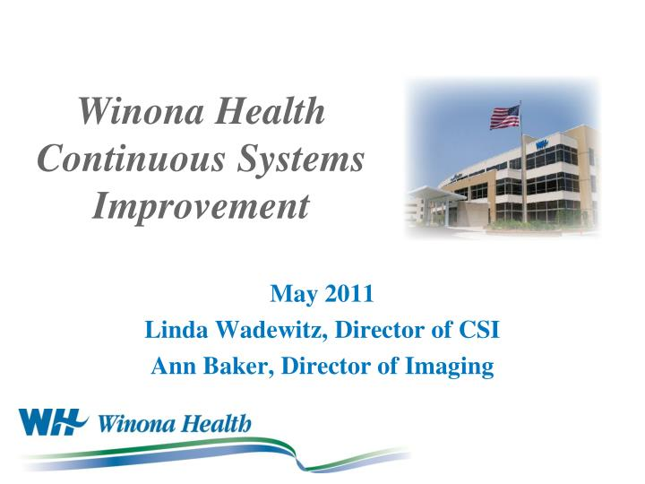 winona health continuous systems improvement n.