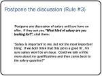 postpone the discussion rule 3