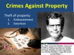 crimes against property3