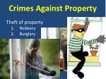 crimes against property4