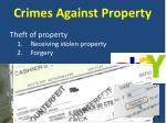 crimes against property5