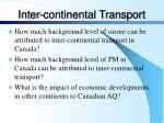 inter continental transport