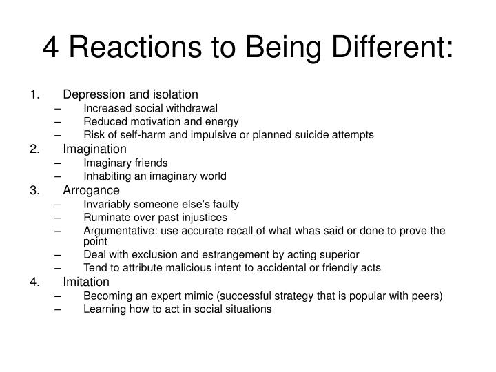 4 Reactions to Being Different: