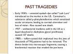 past tragedies