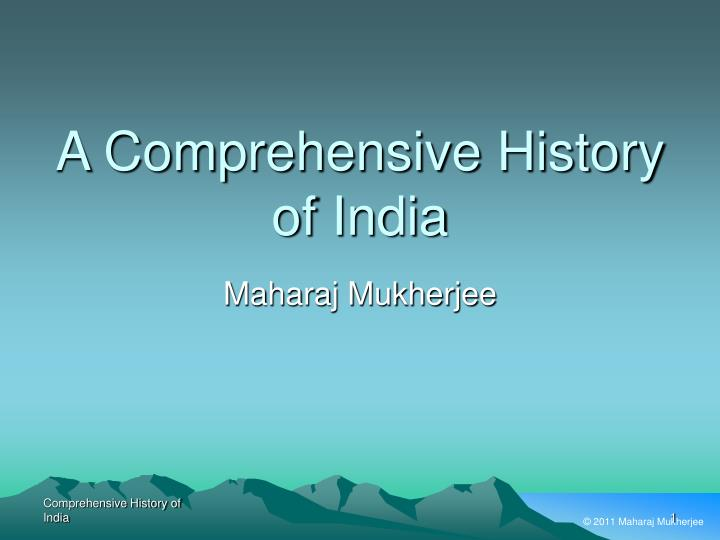 a comprehensive history of india n.