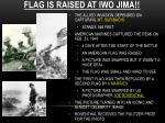 flag is raised at iwo jima