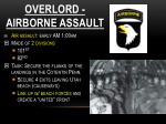 overlord airborne assault
