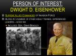 person of interest dwight d eisenhower