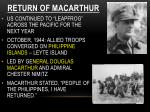 return of macarthur