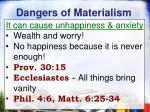 dangers of materialism2