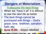 dangers of materialism3