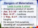 dangers of materialism5