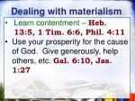 dealing with materialism1