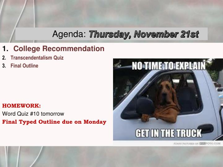 agenda thursday november 21st n.