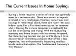 the current issues in home buying