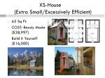 xs house extra small excessively efficient