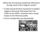 define the second great awakening what were the big results of this religious revival