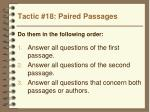 tactic 18 paired passages