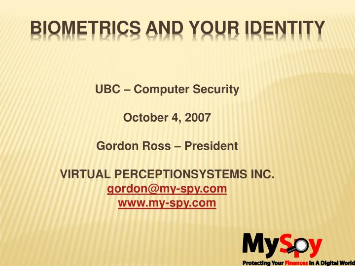biometrics and your identity n.