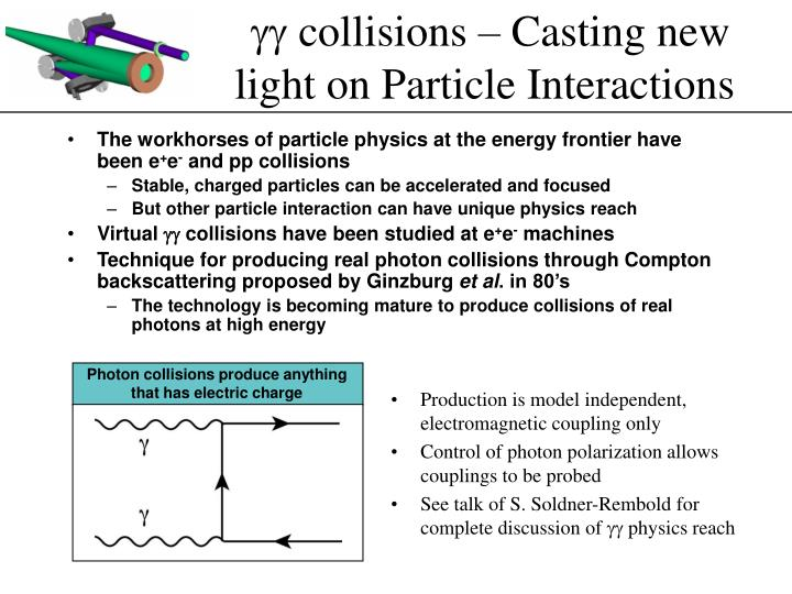 Gg collisions casting new light on particle interactions