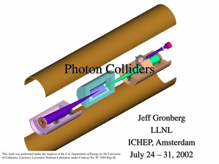 photon colliders n.