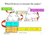 which b decays to measure the angles