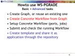 howto use ws pgrade basic advanced tasks1