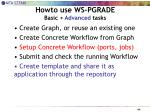 howto use ws pgrade basic advanced tasks2
