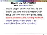 howto use ws pgrade basic advanced tasks3