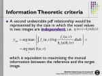 information theoretic criteria5