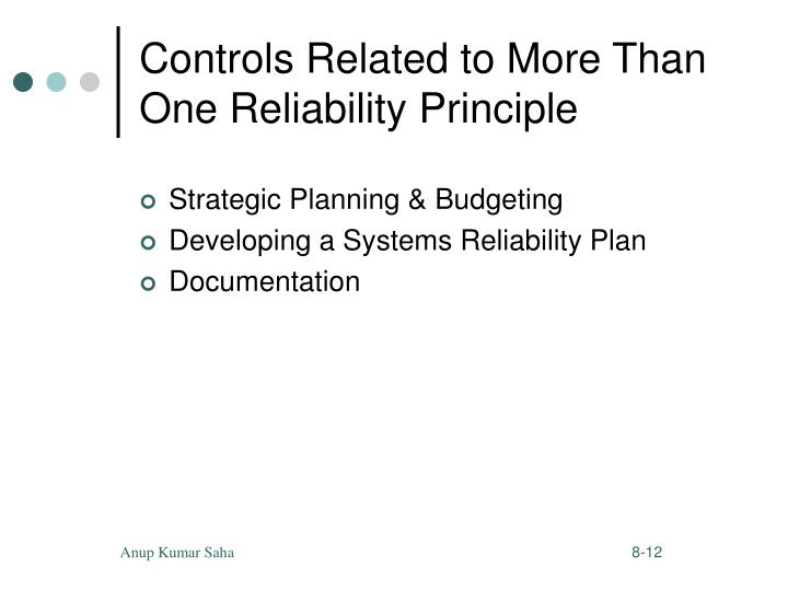 Controls Related to More Than One Reliability Principle