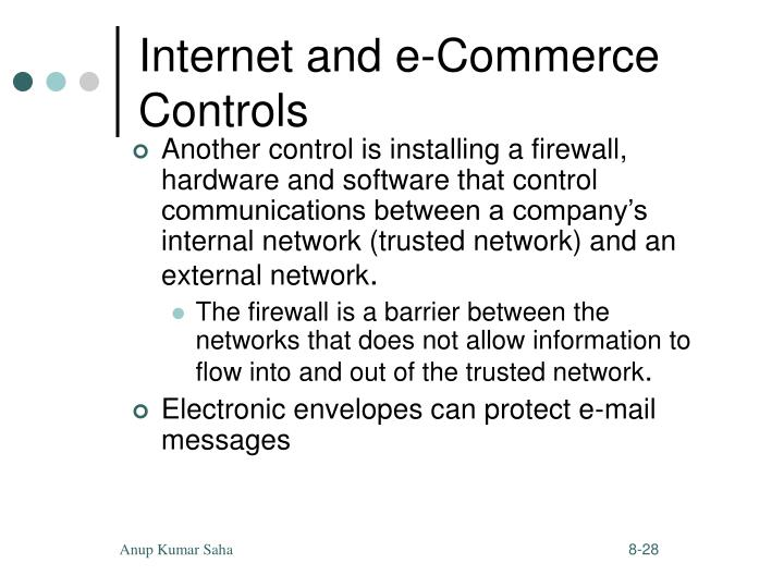 Internet and e-Commerce Controls