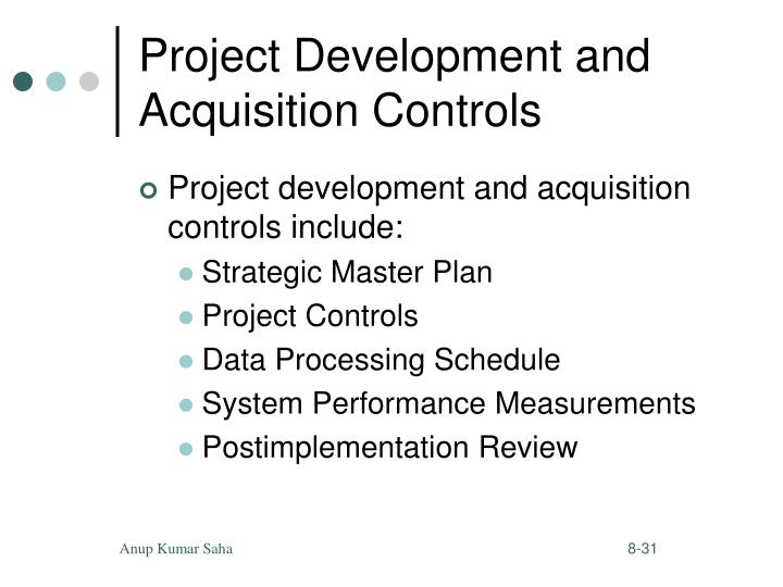 Project Development and Acquisition Controls