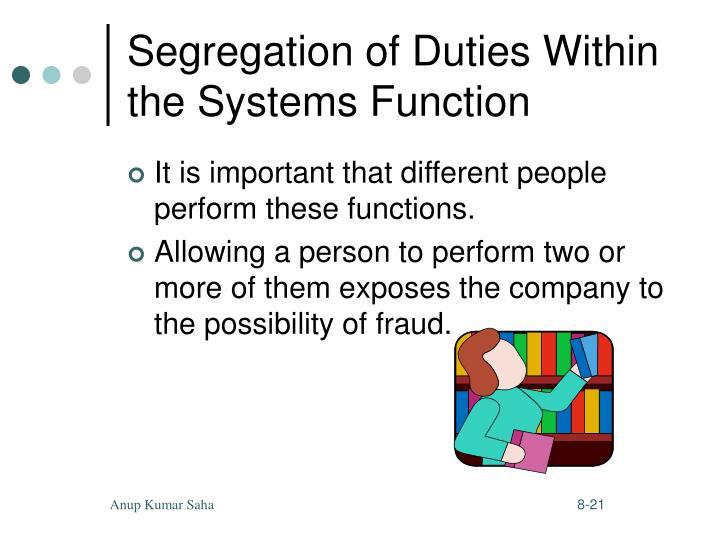 Segregation of Duties Within
