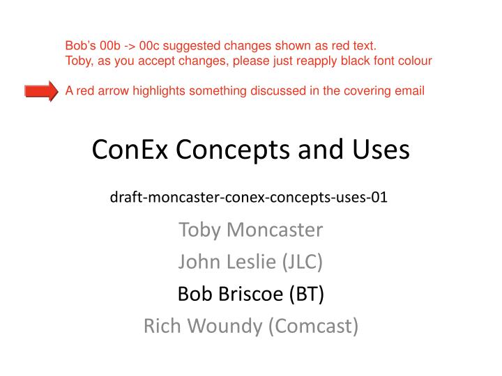 conex concepts and uses n.