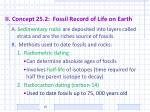 ii concept 25 2 fossil record of life on earth
