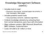 knowledge management software cont d