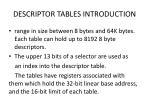 descriptor tables introduction1