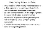 restricting access to data