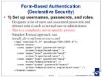 form based authentication declarative security