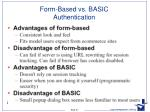 form based vs basic authentication