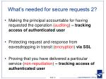 what s needed for secure requests 2