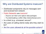 why are distributed systems insecure