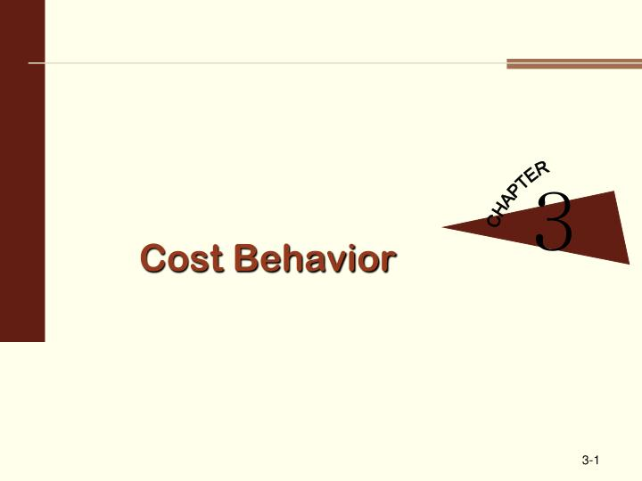 cost behavior n.