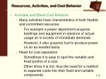 resources activities and cost behavior3