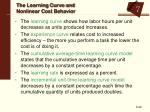 the learning curve and nonlinear cost behavior