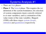 systems analysis 1